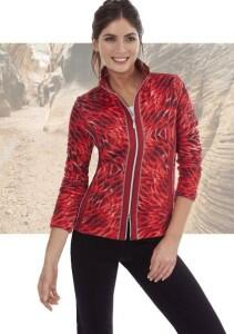 Canyon Fleecejacke Alloverdruck Flame