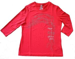 Canyon T-Shirt 3/4 Arm hibiscus-silber