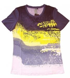 Canyon Women Sports T-Shirt Druck anthrazit-gelb