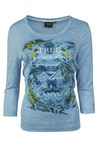 Canyon T-Shirt iceblue melange 3/4 Arm