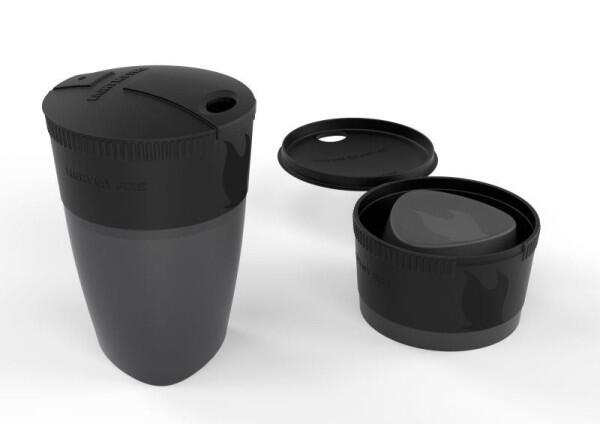 Pack Up Cup in Farbe schwarz-grau