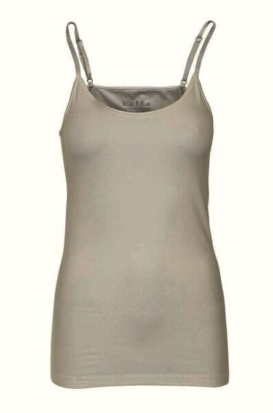 Kaffe Top in Farbe Taupezinc