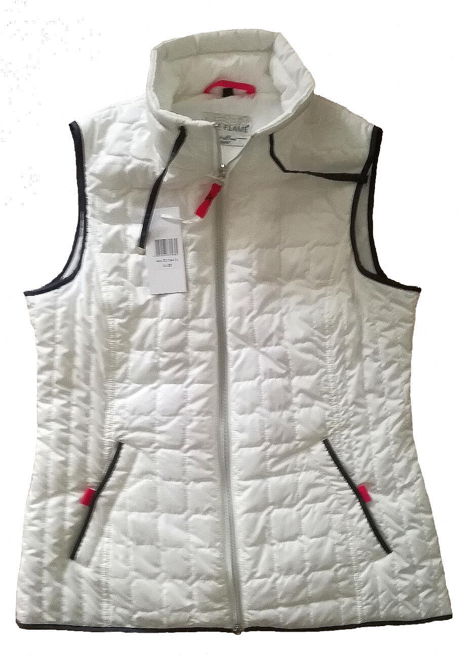 Nickel Sportswear Damen Steppweste Light weiss lZXrE