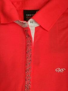 Canyon Women Sports Poloshirt cherrycoral
