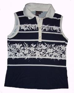 Canyon Polotop Tanktop weiss-marine Gr. 40