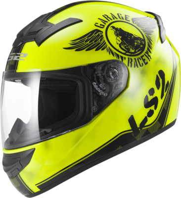 LS2 Helm Rookie Fan FF352 Hi-Vis Yellow