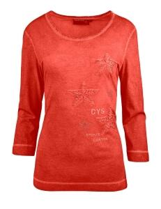 Canyon T- Shirt 3/4 Arm Sternenstick red clay