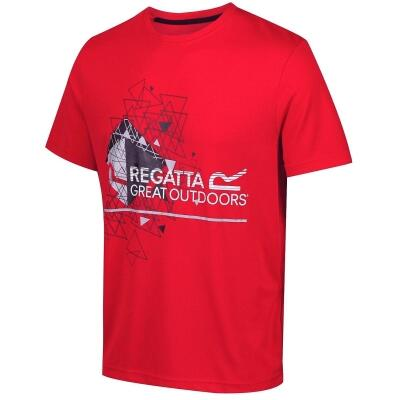 Regatta Fingal III Funktions-T-Shirt rot