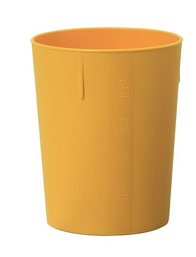 Outdoorbecher 250 ml gelb