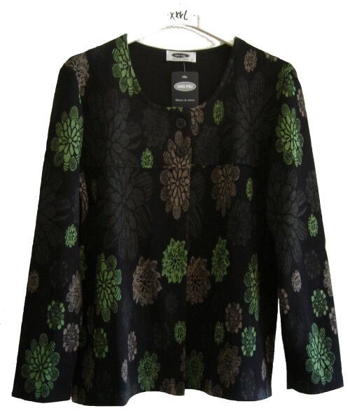 UNO PIU Damen Jacke schwarz braun grün